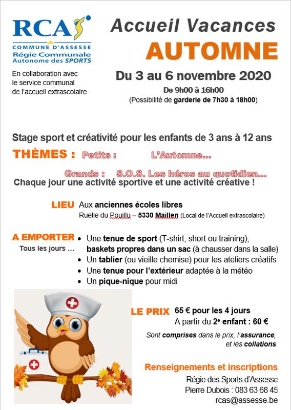 RCAS stage de toussaint2020